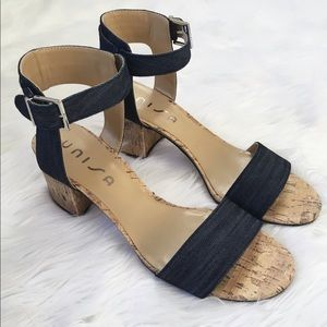 Unisa Blue Denim Sandal Heels